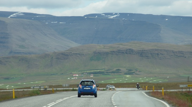 Car on Ring Road in Iceland