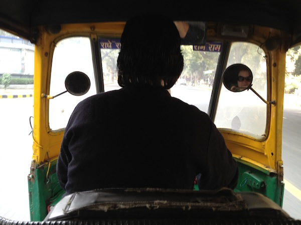 Travelling in an autorickshaw
